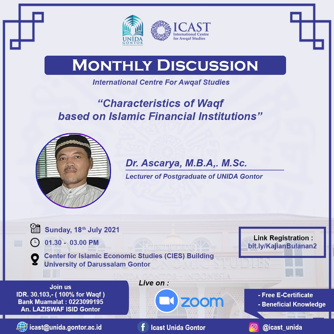 Monthly Discussion-Characteristics Of Waqf Based On Islamic Institutions